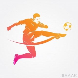 لوگو فوق العاده Soccer player logo vector silhouette