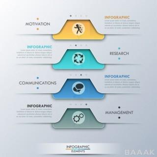 اینفوگرافیک جذاب Modern infographic option banner
