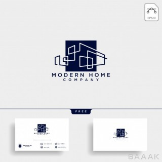 لوگو مدرن و جذاب Construction architect logo design icon vector element