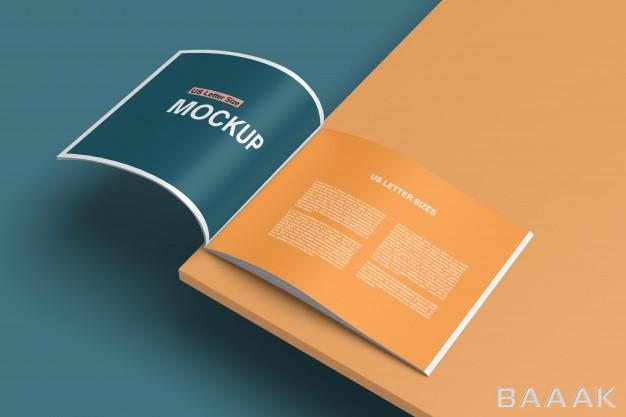 موکاپ-جذاب-Stylish-opened-book-magazine-mockup_276198100
