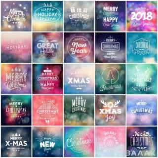 ست تایپوگرافیک کریسمس