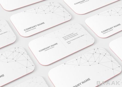 موکاپ  کارت ویزیت مدرن با گوشه های گرد