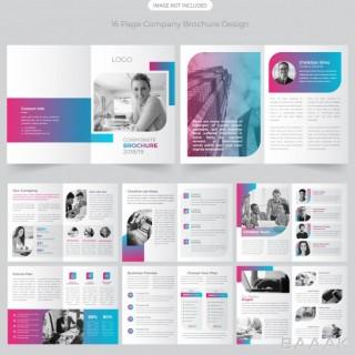 بروشور فوق العاده 16 page company profile brochure design
