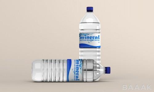 موکاپ بطری های آب معدنی