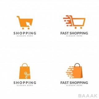 لوگو خاص و خلاقانه Set shopping logo template vector design