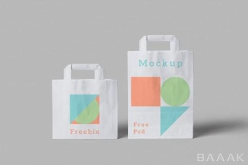 موکاپ کیسه های خرید در اندازه های مختلف