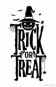 تصویر متن نوشته وکتوری با مناسبت هالووین