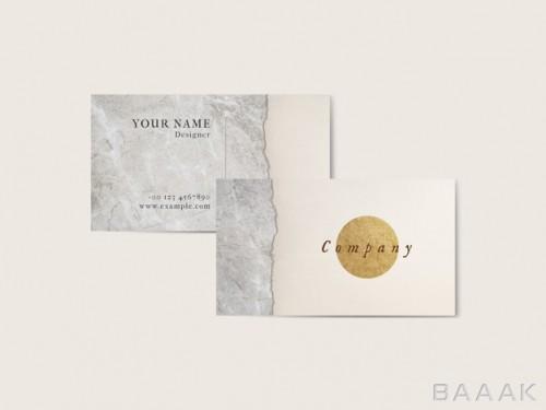 کارت ویزیت خاص و خلاقانه Minimal luxurious business card template
