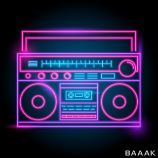 لوگو زیبا Radio neon logo