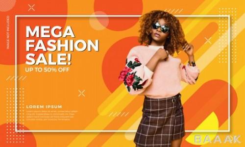 بنر زیبا Fashion sale banner template