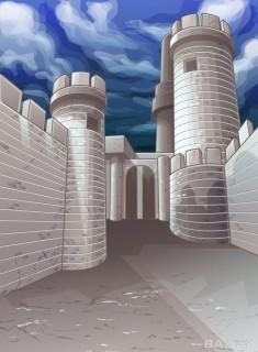 پس زمینه زیبا و خاص Vector fortress sky background