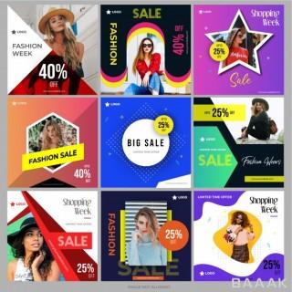 شبکه اجتماعی خاص Social media shopping pack marketing