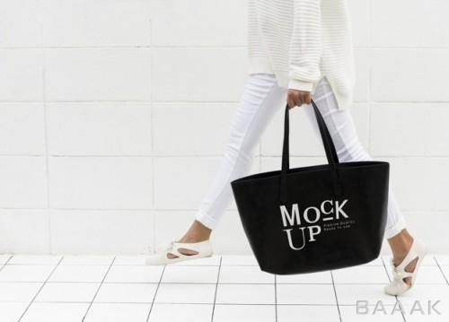 موکاپ کیف بزرگ دوشی دیزاین شده