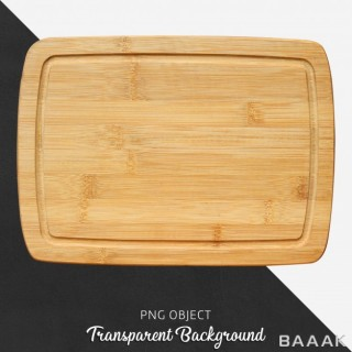 تخته چوبی آشپزی با پس زمینه شفاف