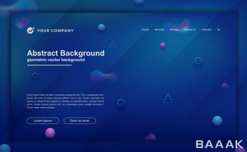 صفحه فرود مدرن و جذاب Trendy abstract background your landing page design minimal background website designs