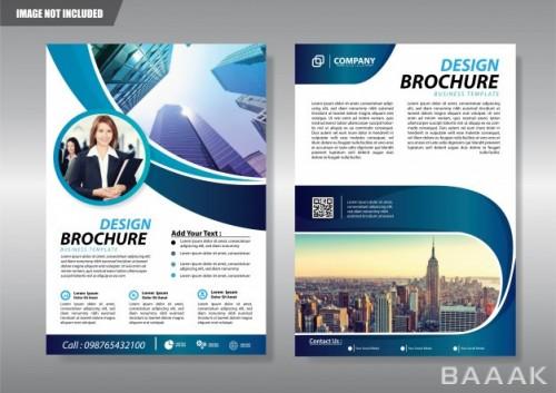 تراکت پرکاربرد Cover brochure flyer booklet background annual report