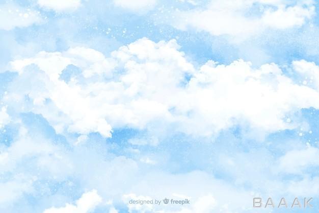 پس-زمینه-خلاقانه-Watercolor-clouds-background_696520782