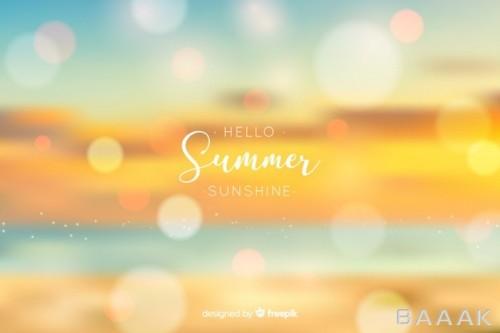 پس زمینه پرکاربرد Realistic blurred hello summer background