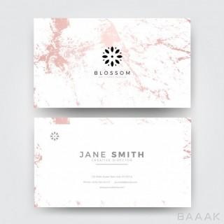 کارت ویزیت خلاقانه Pink marble modern feminine business card template