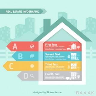 اینفوگرافیک خلاقانه House shape infographic