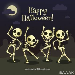 پس زمینه زیبا و خاص Background skeletons dancing