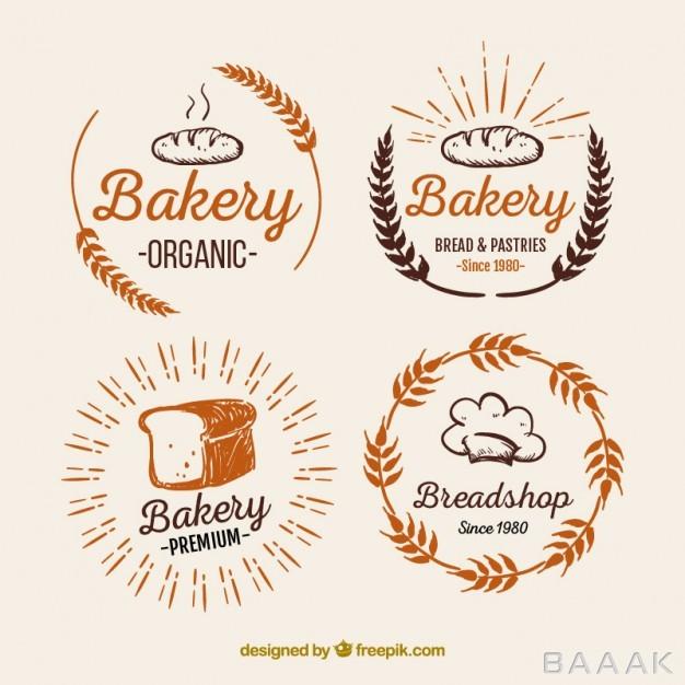 لوگو-خاص-Bakery-logos-pack_831730