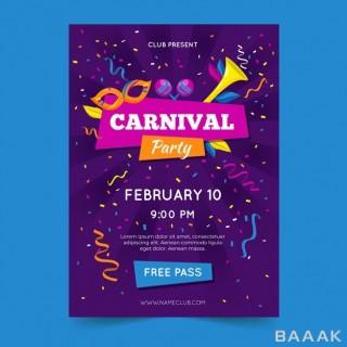 تراکت مدرن Carnival party flyer template