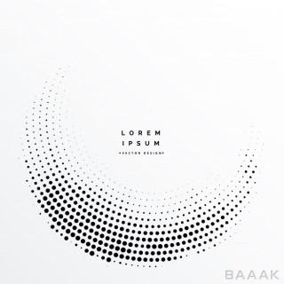 پس زمینه جذاب و مدرن Abstract halftone dots background design