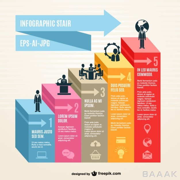 اینفوگرافیک-خاص-و-مدرن-3d-infographic-stair_746493