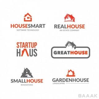 لوگو خاص و خلاقانه Real estate logo collection