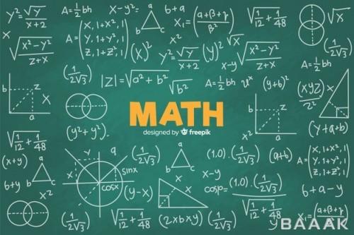 پس زمینه خاص و مدرن Realistic math chalkboard background