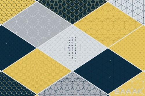 پس زمینه زیبا Geometric background japanese style