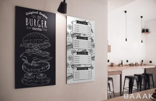 موکاپ منو رستوران نصب بر روی دیوار