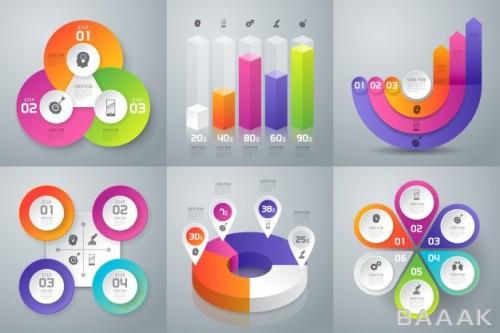 اینفوگرافیک پرکاربرد Set business infographics