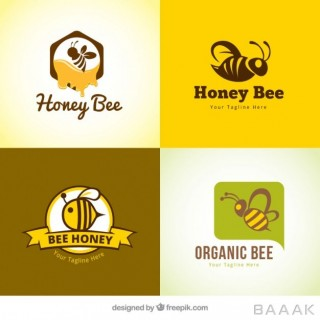 لوگو مدرن Several honey logotypes