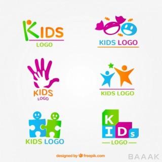 لوگو مدرن و جذاب Kid logo collection