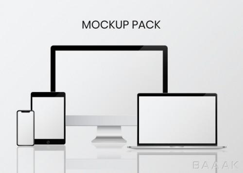 موکاپ زیبا و جذاب Digital device mockup set
