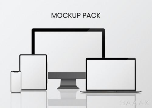 موکاپ خلاقانه Digital device mockup set