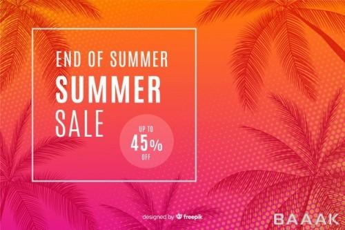 پس زمینه مدرن و جذاب End summer sales background