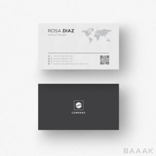 قالب مدرن کارت ویزیت