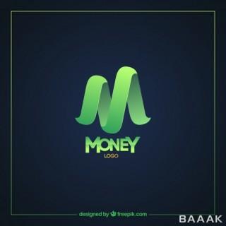 لوگو خاص Modern green money logo template