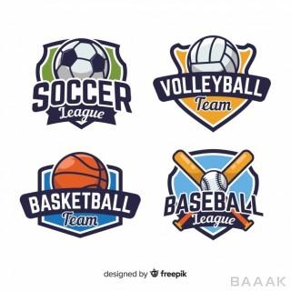 لوگو مدرن و جذاب Modern set abstract sports logos