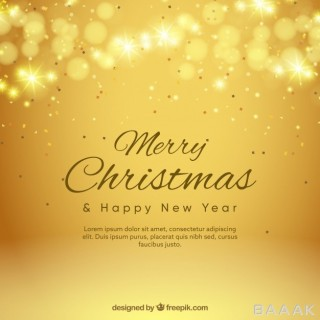 پس زمینه خاص Golden background bokeh merry christmas
