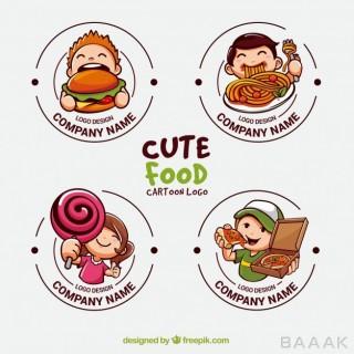 لوگو مدرن و جذاب Collection cute logos food industry
