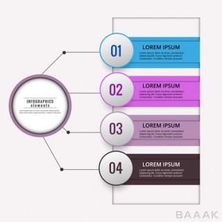 اینفوگرافیک زیبا و خاص Colored infographic diagram