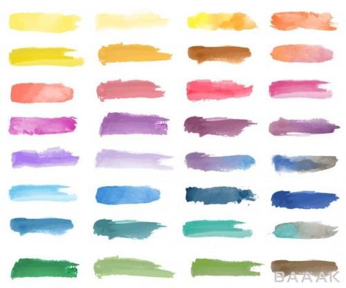 پس زمینه جذاب و مدرن Colorful watercolor patch background vector