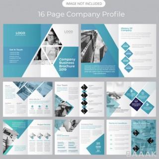 بروشور زیبا و جذاب Company profile brochure template