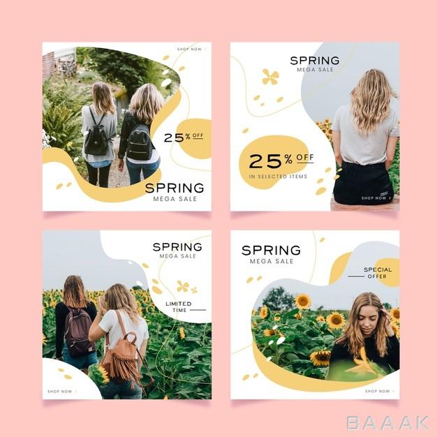 اینستاگرام-مدرن-Spring-sale-instagram-post-collection_244160248