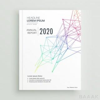 بروشور پرکاربرد Creative brochure magazine cover page design made with abstract wire mesh