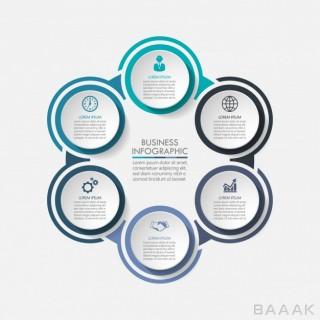 اینفوگرافیک زیبا Presentation business circle infographic template